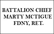 Battalion Chief Marty McTigue, FDNY, Ret.